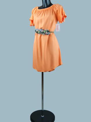 Платье  оранжевое 1975