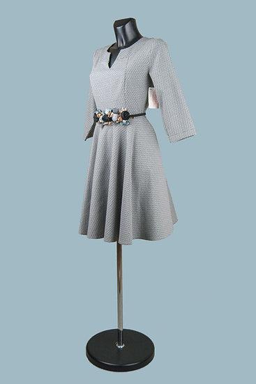 Нарядное платье с юбкой солнце серое. Польша. Размер: 44