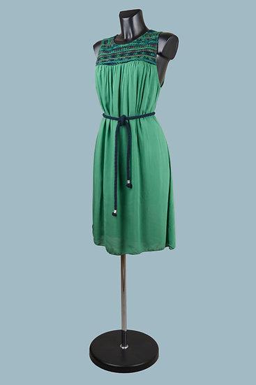 Летнее зеленое платье. Италия. Вискоза. Размер: 48-50