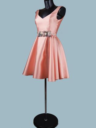 Платье нарядное   персиковое 1460