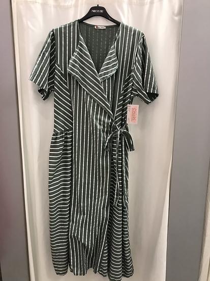 Платье на запах хаки