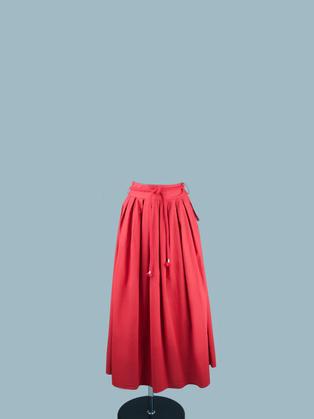 Юбка в складку красная