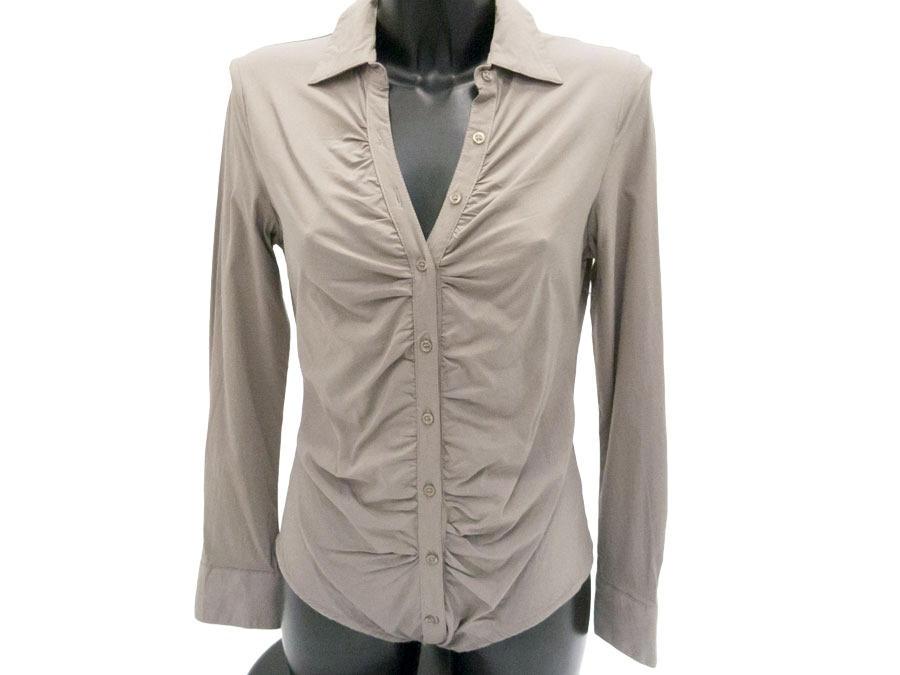 Блузка- боди  темно-бежевая 93254