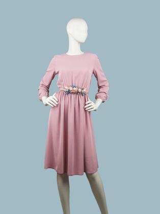 Платье пудра 256611