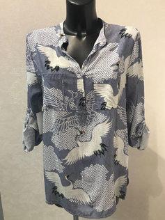 Блузка вискозная с рисунком