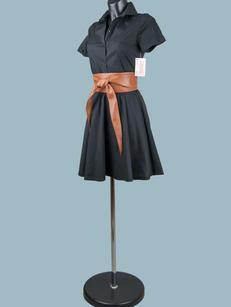 Платье летнее сафари черное