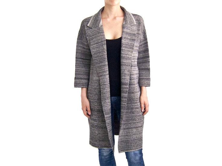 Легкое пальто меланж коричневое 12334010