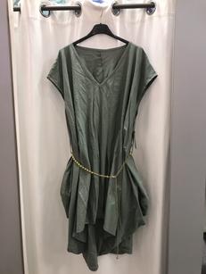 Платье -туника хаки19402410