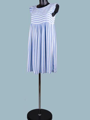 Платье в голубую полоску короткое