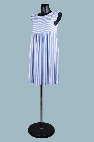 Летнее платье мини в голубуюполоскув синюю полоску. Италия. Вискоза. Размер: 42-46