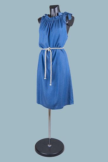 Летнее платье миди джинсовое. Италия. 100% лиоцелл.