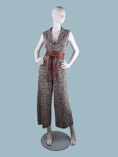 Комбинезон женский вечерний леопардовый | chichi