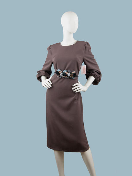 Платье коричневое  260552