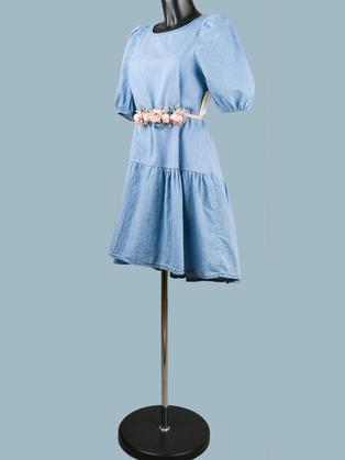 Платье джинсовое светлое