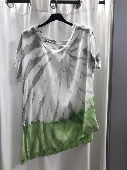 Блузка зелёная 9728