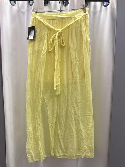 Юбка длинная жёлтая 9440
