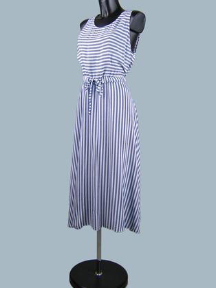 Платье летнее  в синюю полоску 2351