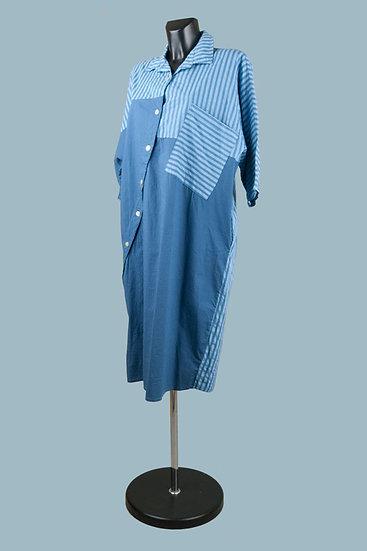 Платье летнее синее свободное