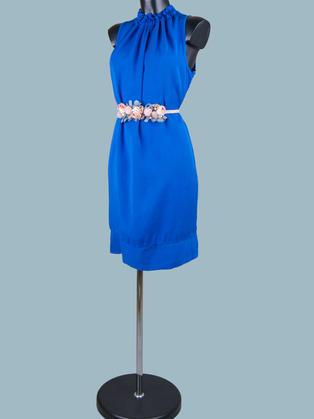 Платье миди ярко синее 1885