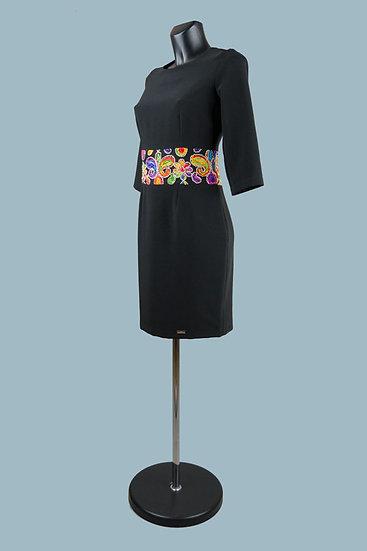 Вечернее черное платье мини. Польша. Размер: 42-44