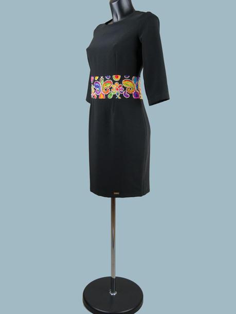 Нарядное платье черное 1752