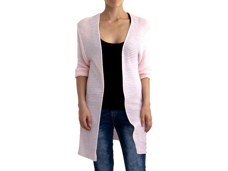Кардиган тонкий вязанный светло-розовый10371110