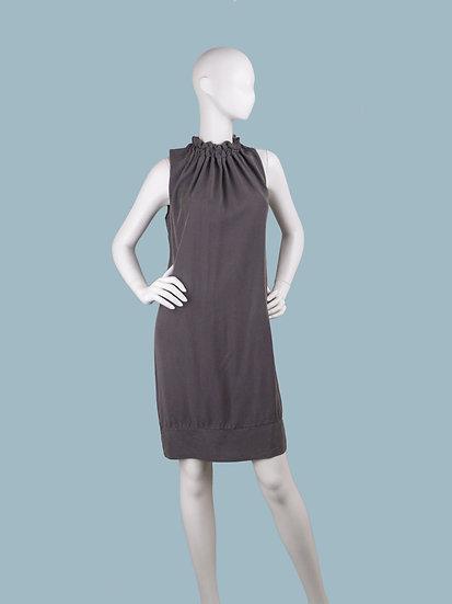 Платье летнее  прямое  коричневое