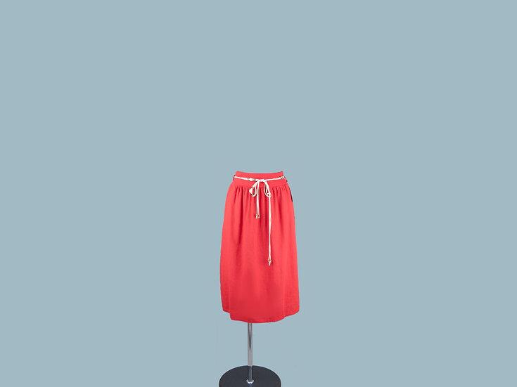 Юбка  красная миди