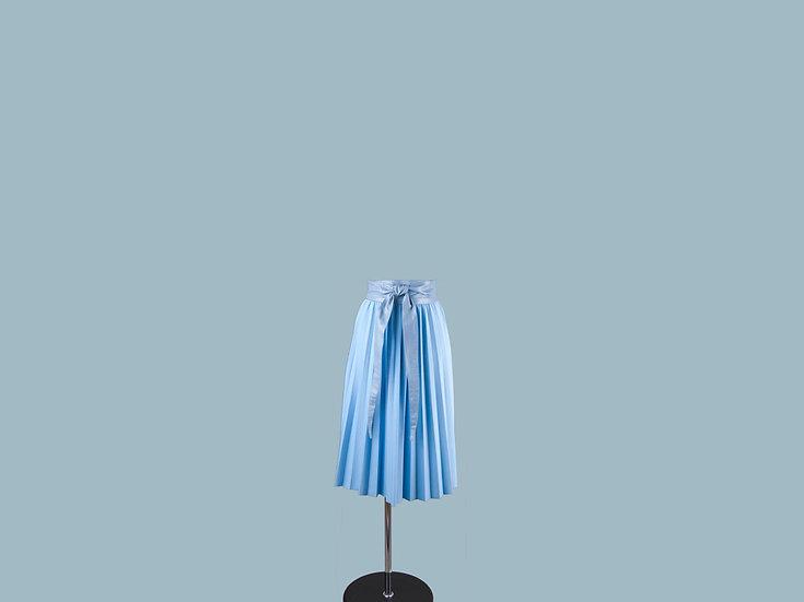 Юбка плиссированная голубая 25140610