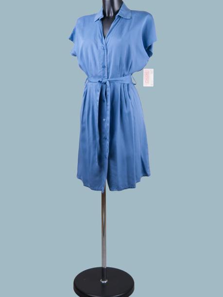 Платье на пуговицах джинсовое