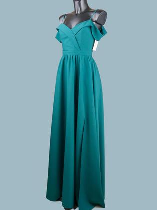Вечернее платье в пол  зеленое 1757