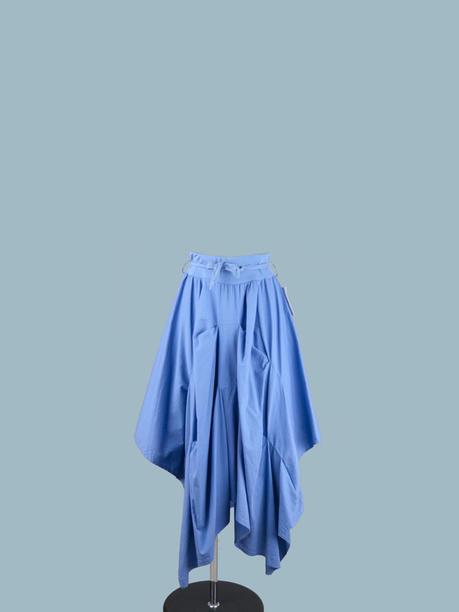 Юбка  ассиметричная  голубая 1946