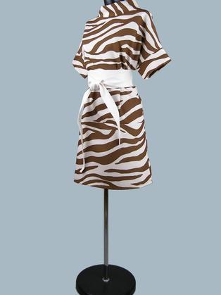Платье с рисунком зебра