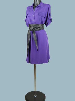 Платье- сафари фиолетовое  2050