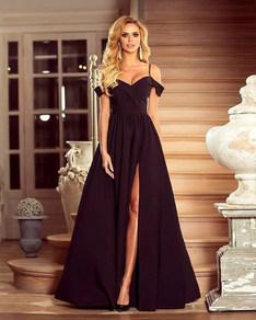 Вечернее платье в пол черное 1757