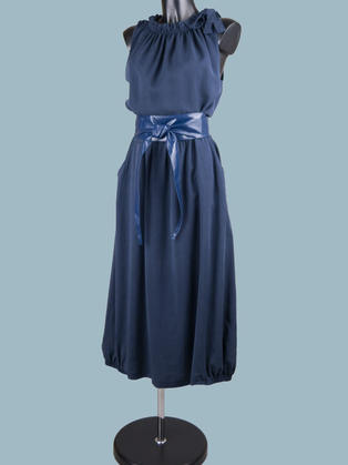 Платье макси синее 2047