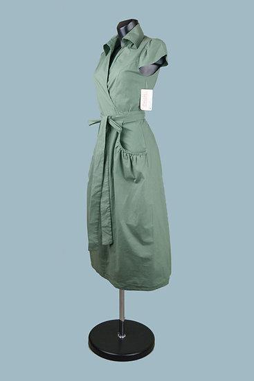 Летнее платье миди с запахом. Италия. Хлопок. Размер: 42-48