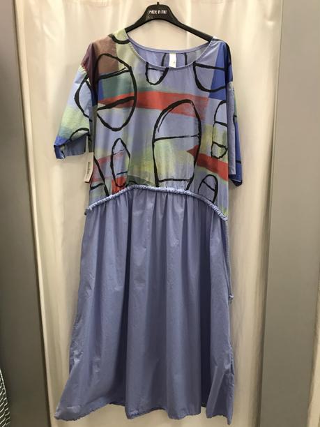 Платье  свободное голубое 22690610