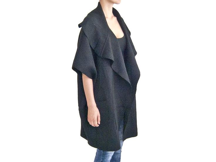 Пальто без рукавов темно-серое 12323310