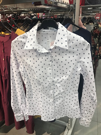 блузка с воротником 170601
