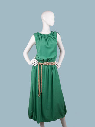 Платье летнее макси зеленое