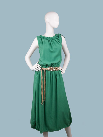 Длинное летнее зеленоеплатье. Италия. 100% лиоцелл. Размер: 44-52