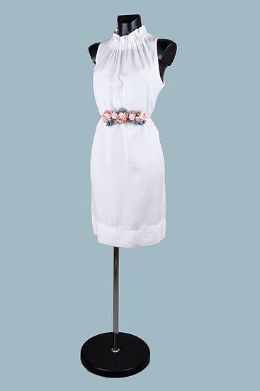 Летнее белоеплатье миди. Италия. 100% лиоцелл. Размер: 42-48.