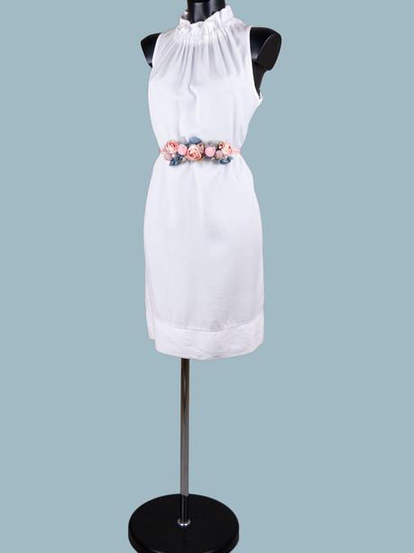 Платье миди белое