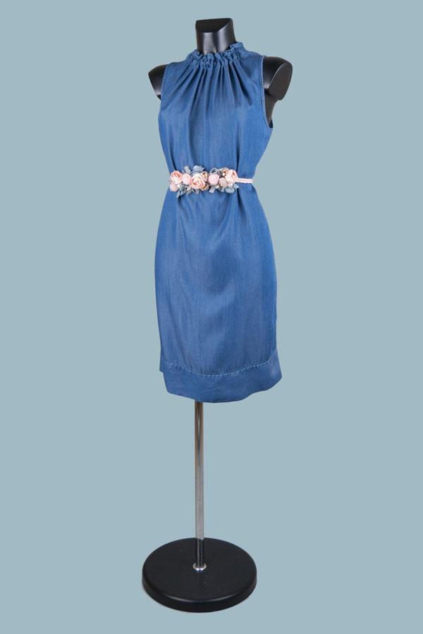 Платье миди  джинсовое