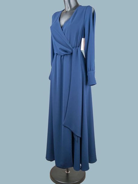 Нарядное длинное платье синее