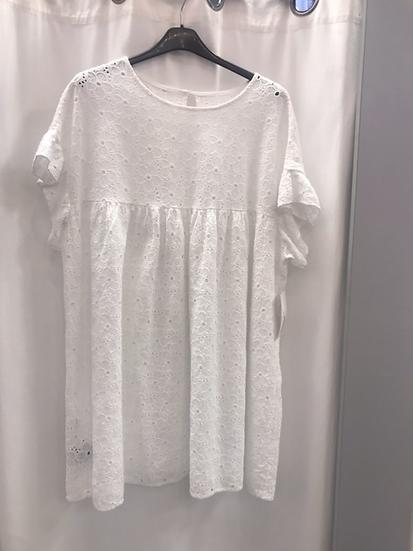 Платье туника белое 19040110