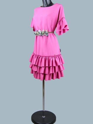 Нарядное платье  фуксия2190