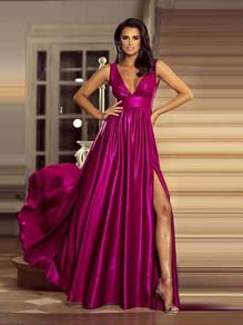 Вечернее платье в пол фуксия 1773