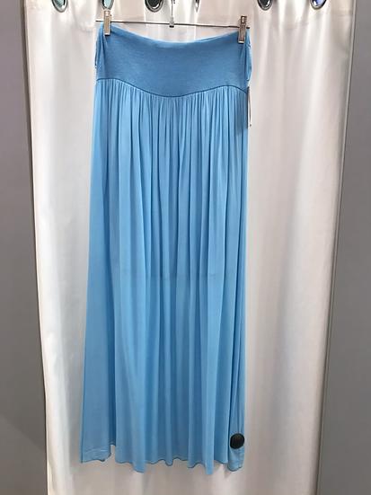 Юбка длинная голубая 9738